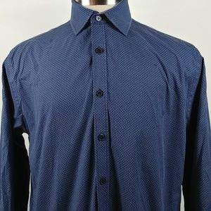 Society Of Threads Mens Button Front Shirt